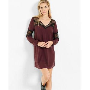 HP⭐️ Express lace long sleeve boho shift dress XS